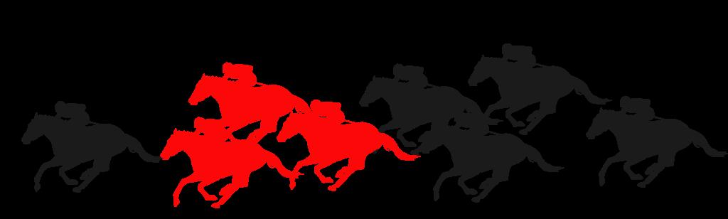 先行馬のポジショニング